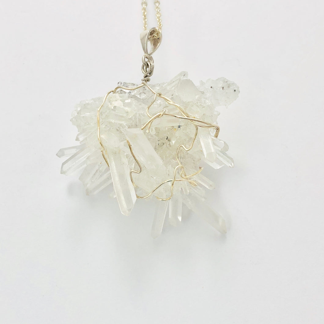 Quartz (Clear) Silver Necklace - Full Moon Designs