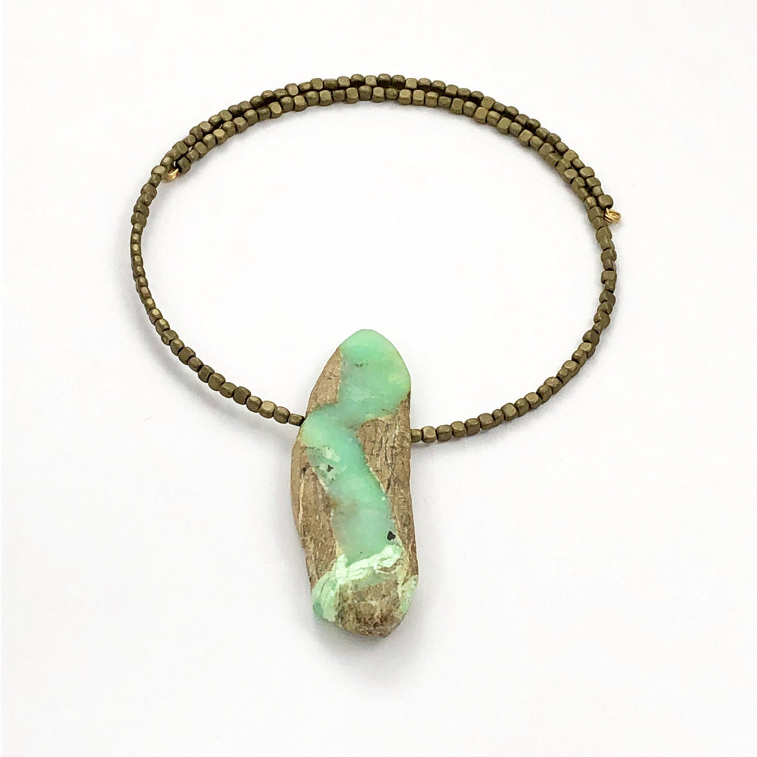 Chrysoprase Necklace - Full Moon Designs