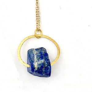 Lapis Lazuli Gold Necklace - Full Moon Designs