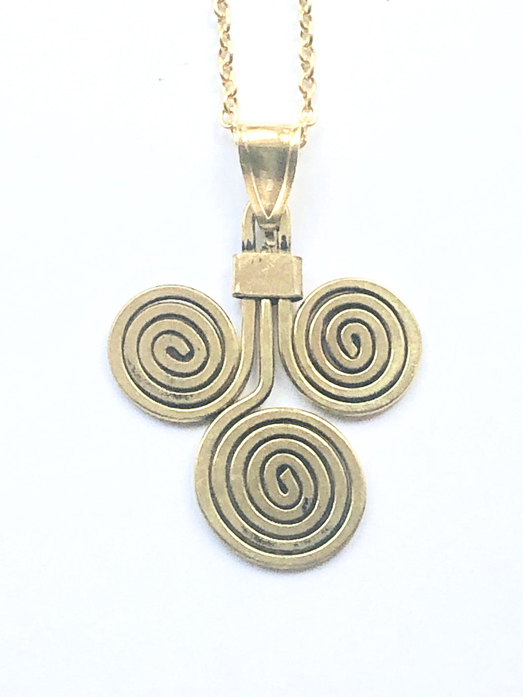 Brass Spiral Necklace - Full Moon Designs