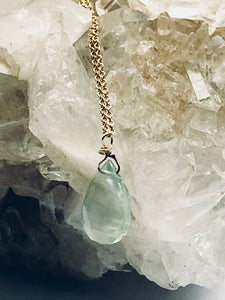Prehnite (Green) Gold Filled Necklace - Full Moon Designs