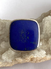 Load image into Gallery viewer, Lapis Lazuli Sterling Silver Ring - Full Moon Designs