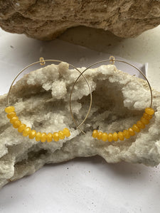 Agate (Yellow) Gold Filled Hoops Earrings