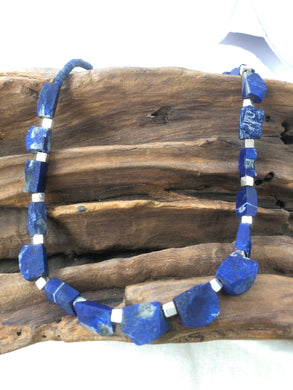 Lapis Lazuli Sterling Silver Necklace - Full Moon Designs