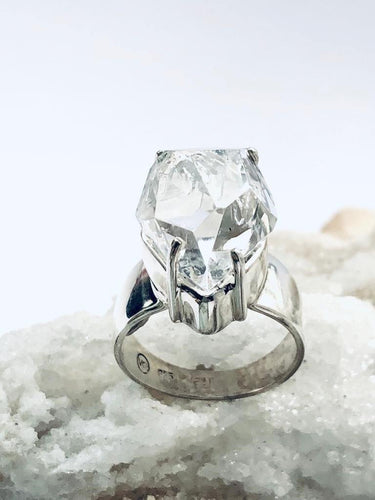 Herkimer Diamond Sterling Silver Ring - Full Moon Designs