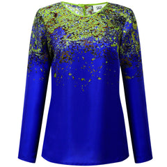 Bloss Green Long Sleeve Top