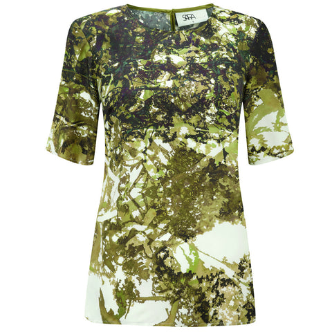 Camo Light Short Sleeve Top