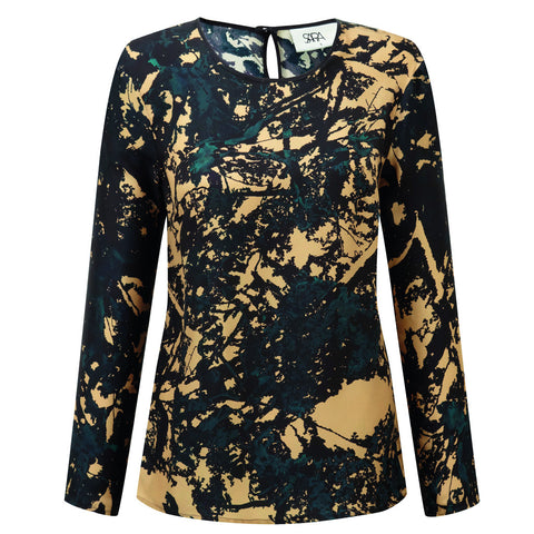 Camo Dark Long Sleeve Top