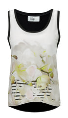 White Floral Camisole Top