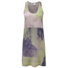 Abstract Green Pink Camisole Dress