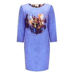 Quinta Blue Dress With Sleeves