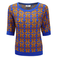 Orange Blue Jersey Sweatshirt