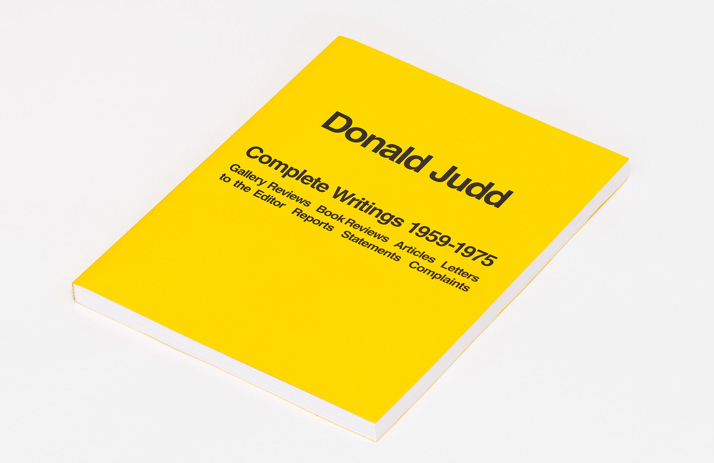 Donald Judd: Complete Writings 1959-1975