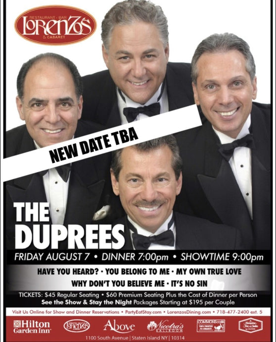 The Duprees - Friday, August 7th 2020