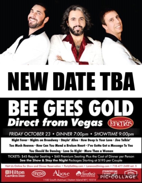 Bee Gees Gold - Friday, October 23, 2020