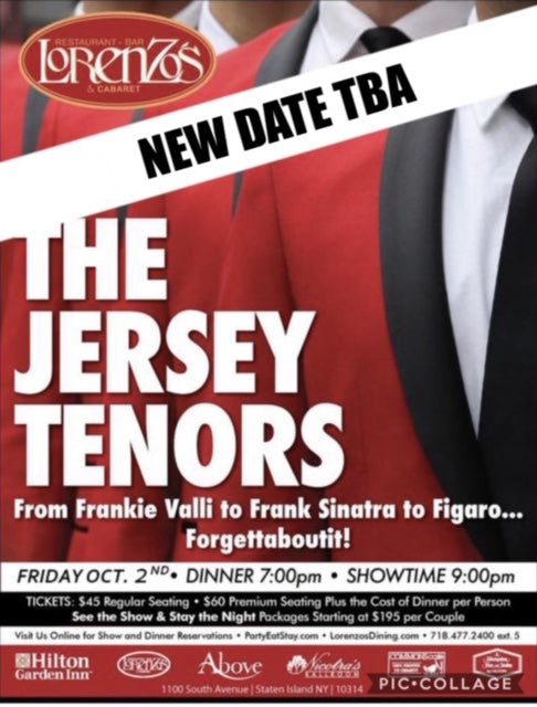 The Jersey Tenors- RESCHEDULED FOR - Friday, November 13th