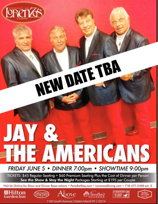 Jay & The Americans - New Date TBA