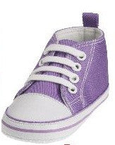Baby Canvas-Turnschuh Lila
