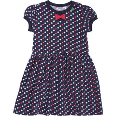 Green Cotton Kleid FLOWER in navy bei Heldenkind