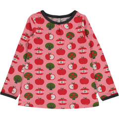 Maxomorra Shirt Langarm Apfel TOP APPLE