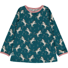 Maxomorra Langarm-Shirt UNICORN DREAMS