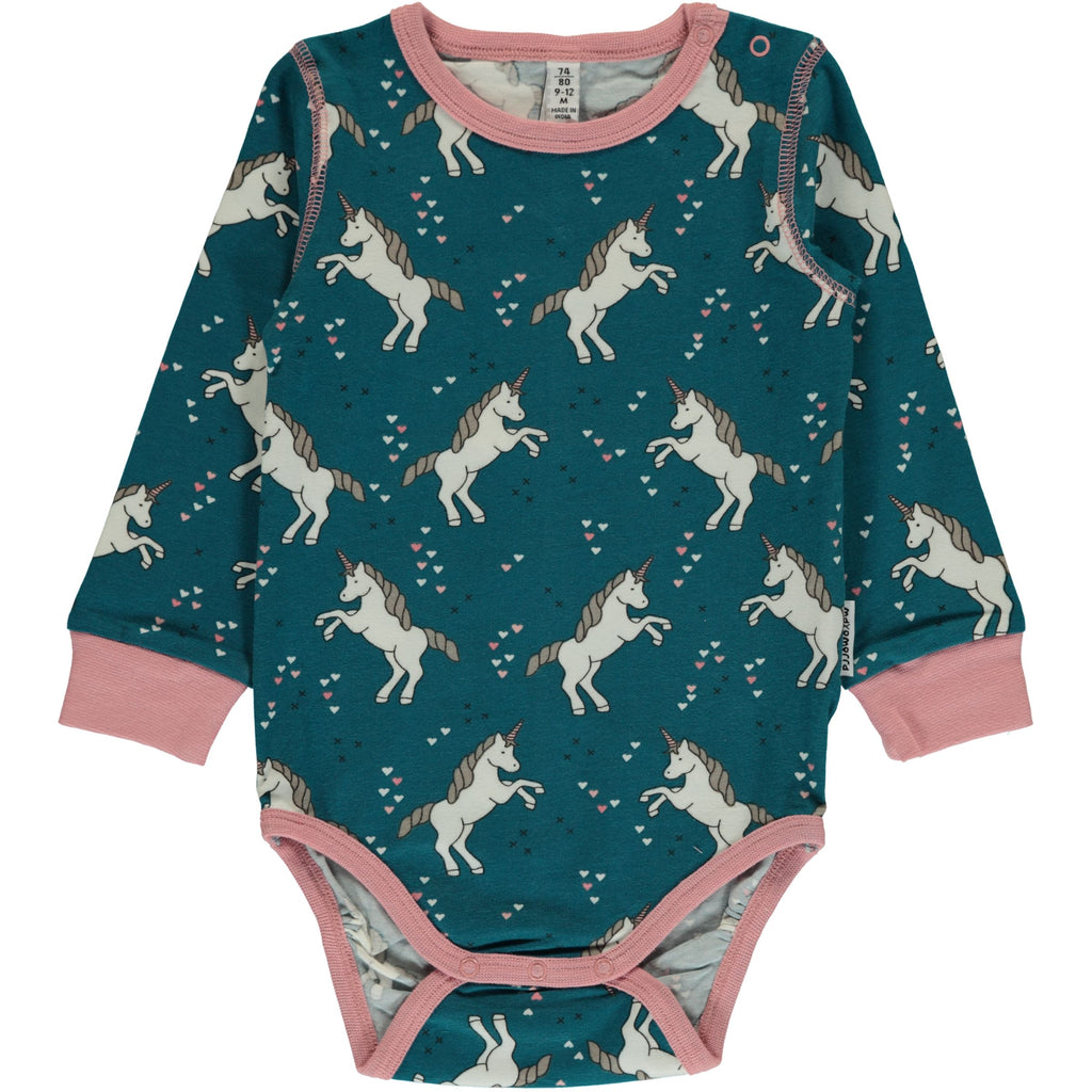 Maxomorra Body Langarm Einhorn UNICORN DREAMS