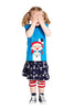 Baby-und Mädchen Kurzarm Shirt Sailor Girl Green Cotton