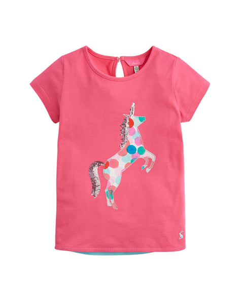 Tom Joules Maggie T-Shirt Pink Unicorn