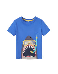 Tom Joules Shirt Blue Scuba Shark.