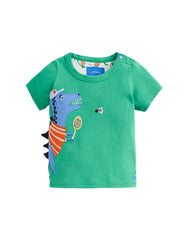 Tom Joules Shirt Green Sport Dino