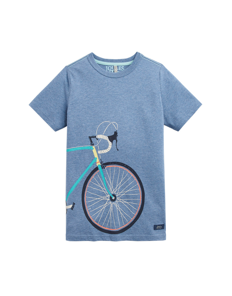 Tom Joules Shirt Blue Marl Bike.