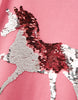 Tom Joules Astra Pink Sequin Horse Top
