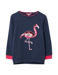 Tom Joule Pullover Navy Flamingo
