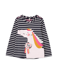 Tom Joule Shirt Navy Stripe Horse