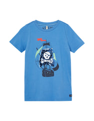 Tom Joule Shirt Piratenschiff in blau