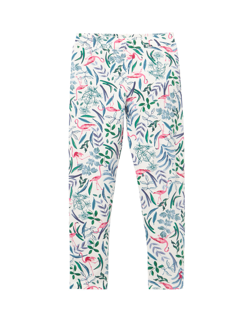 Tom Joule Leggings White Flamingo Ditsy