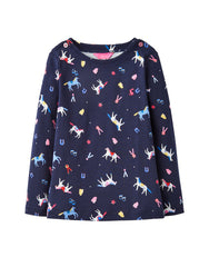 Tom Joule Shirt Navy Horses