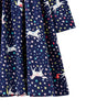 Joules - Hampton Paperbag Tallien Kleid Navy Unicorn