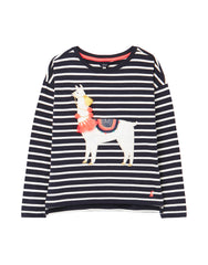 Joules - Lorelle Drop Shoulder Shirt Navy Llama