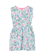 Tom Joule Kleid White Flamingo Ditsy
