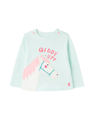 Joules - Harriet Applique Shirt Green Horse