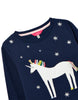 Joules - Tiana Artwork Sweat Navy Unicorn