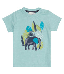 Sense Organics - IBON Shirt  Light Teal - Elephant Print