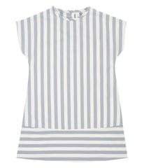Sense Organics - FREJA Dress Dusty Blue Stripes