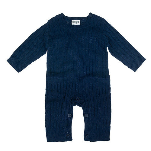 Strampler CABLE KNIT Bodysuit Navy