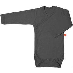 Baby Wickelbody Dark Grey Langarm