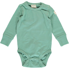 Maxomorra Body langarm Solid SOFT TEAL