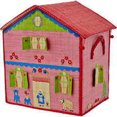 Spielzeugkiste GIRL COTTAGE LARGE Landhaus in rosa