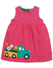 Frugi Lily Cord Dress Flamingo Flower Truck