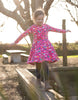 Frugi Sofia Skater Dress Flamingo Flying High